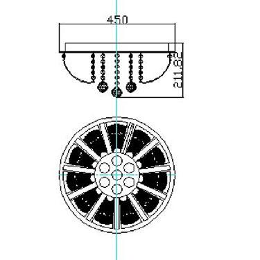 PLAFON CAPRI PL7007-5.110