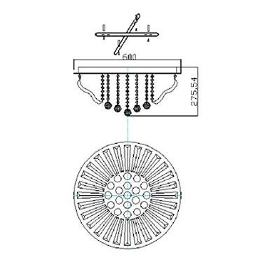 PLAFON COLISEU LED COM CONTROLE REMOTO PL7111-9.000