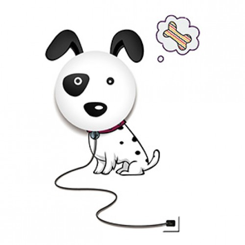 PLAFON INFANTIL 1 LÂMPADA DOG – PI0304-1.000