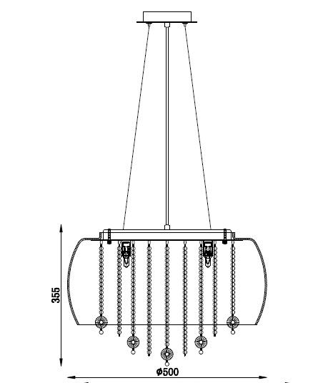 PENDENTE BERLIM II TRANSPARENTE PD4719-6.000
