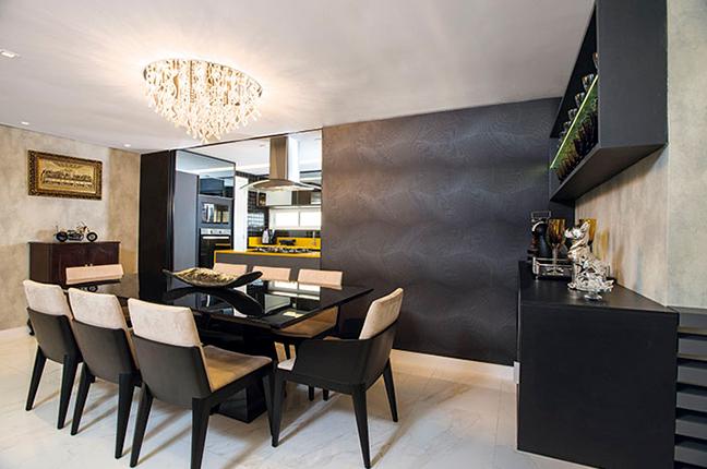 Plafon em cozinha integrada