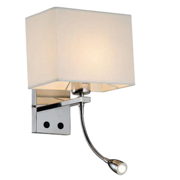 Arandela Cetus com 2 lâmpadas branco.