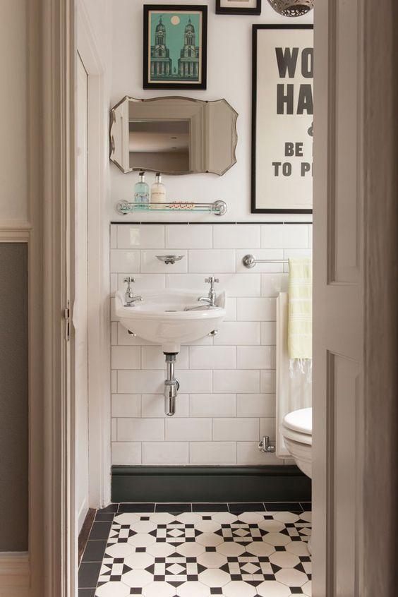 Banheiro estilo vintage
