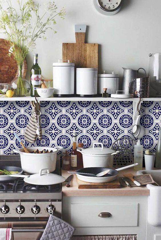 Azulejo estilo português para cozinha - estilo vintage
