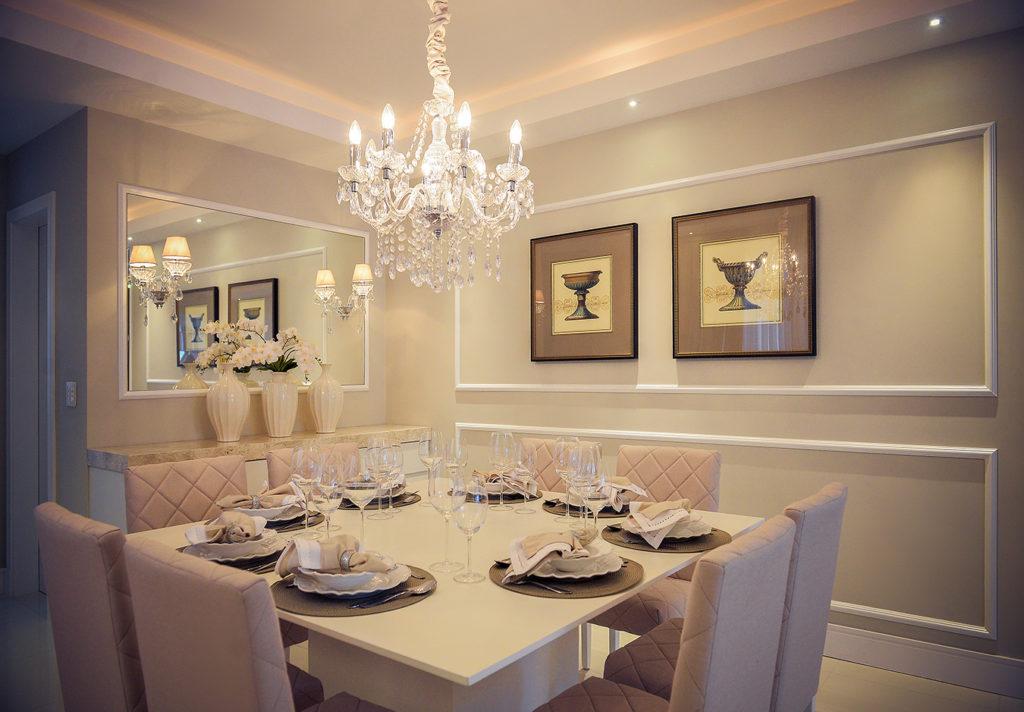 Lustre de cristal para sala de jantar Maria Thereza